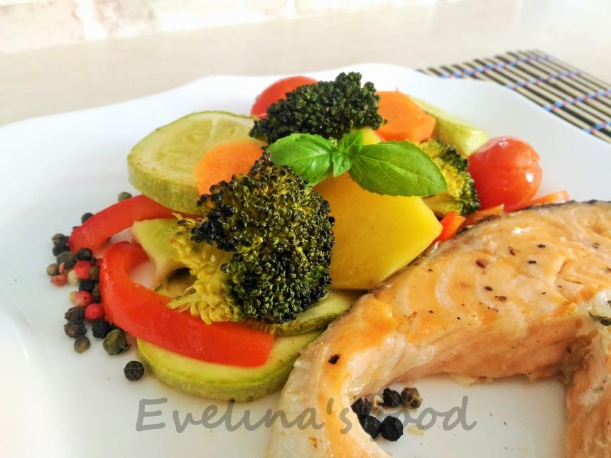 somon cu legume la cuptor (15)