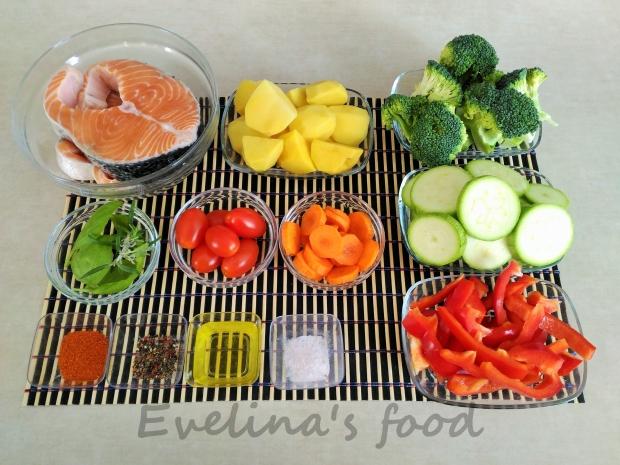 somon cu legume la cuptor ingrediente