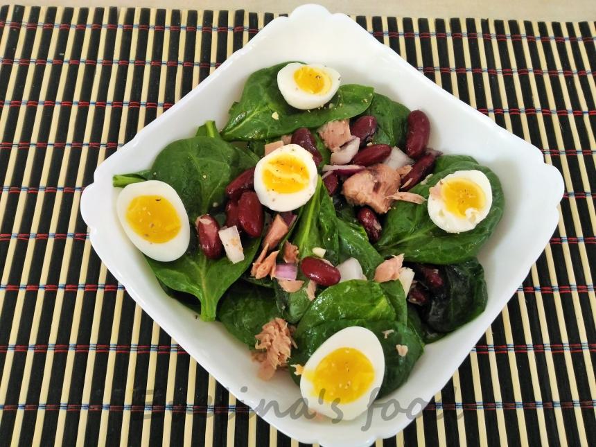 salata cu baby spanac