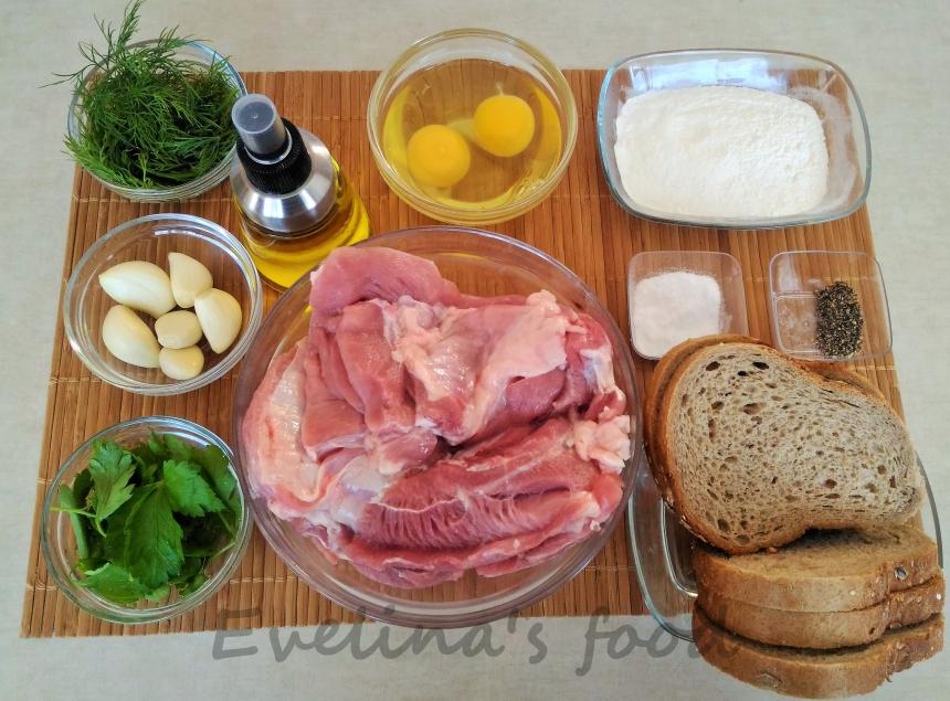 Chiftele de curcan cu piure ingrediente