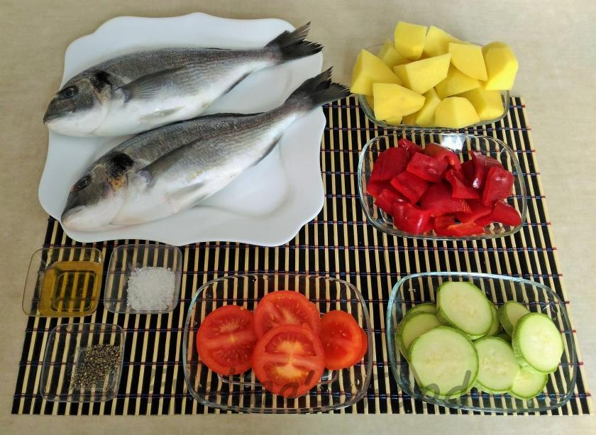 Dorada cu legume la cuptor (1)