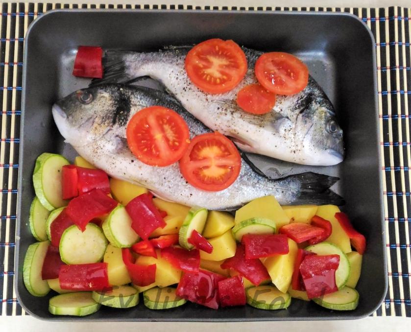 Dorada cu legume la cuptor (2)
