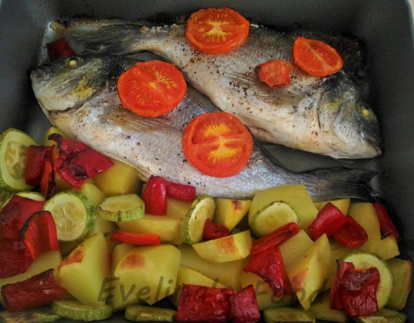 Dorada cu legume la cuptor (3)